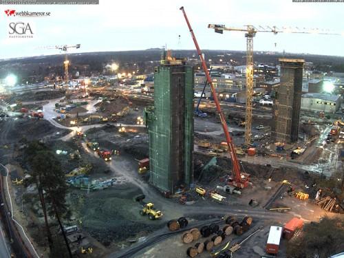 Stockholmsarenans första pylonpar