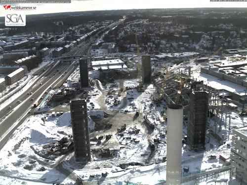 Från webbkameran på Ericsson Globe