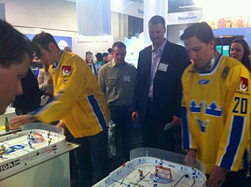 Bordshockeyturnering på TUR-mässan 2011