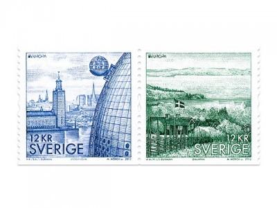 Ericsson Globe frimärke