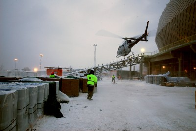 Blogg Helikopter landar